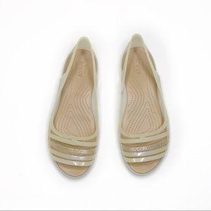 Crocs White Slip On Sandals Women's 8